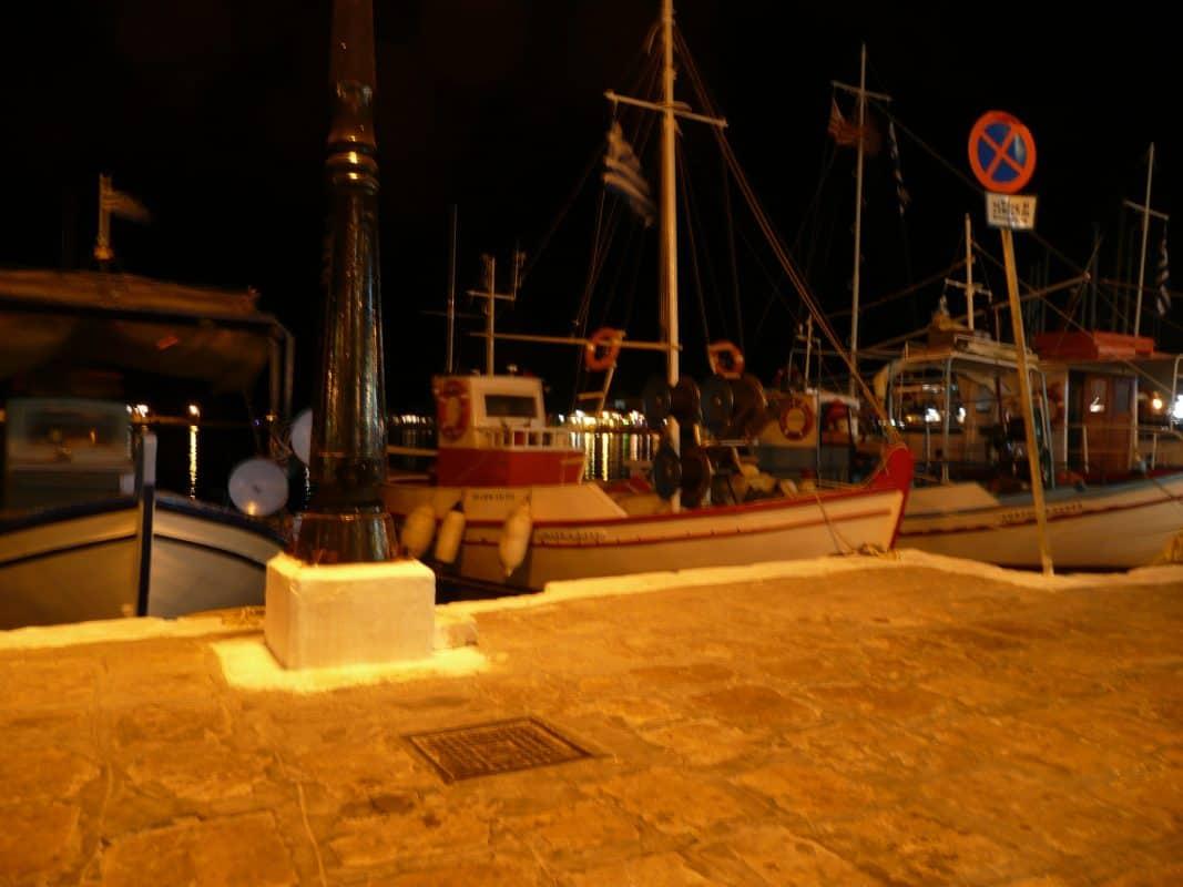 De haven van Pythagorion