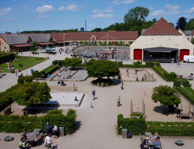 Mooi overzicht, een aardig beeld van de uitgebreide speelmogelijkheden in het park
