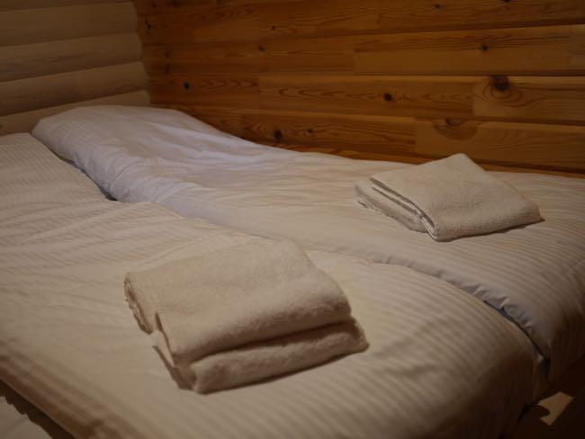 Luxe! Opgemaakte bedden...