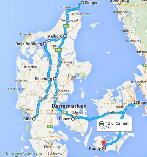 roadtrip Denemarken