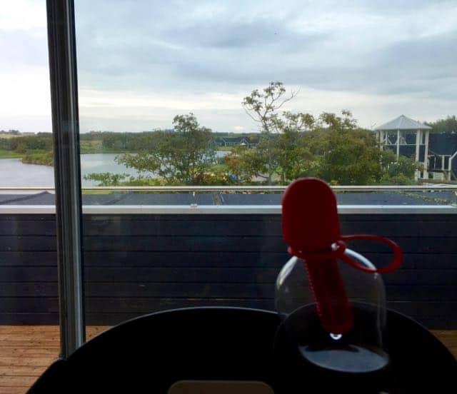 Uitzicht vanuit de fitnessruimte