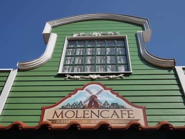 Het Molencafé in het Nederlands themagebied.