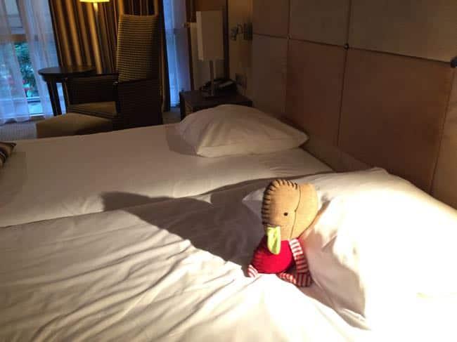 Arie blijft lekker slapen in het Princess hotel... post volgt!